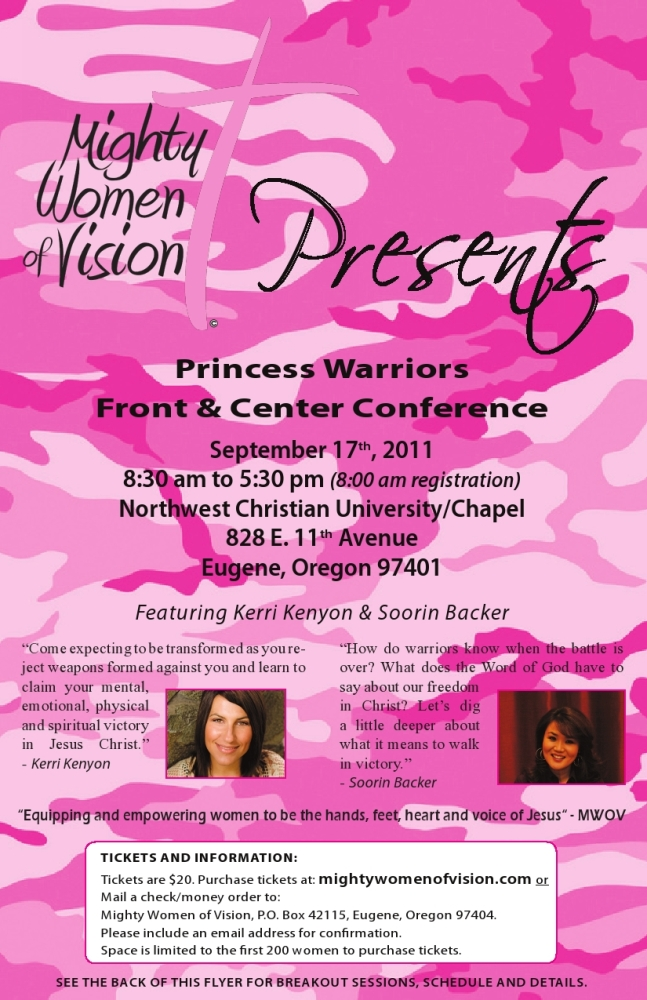 Princess Warriors–Front & Center Conference Fliers (1/2)