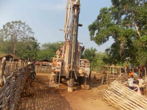15.While drilling the bore